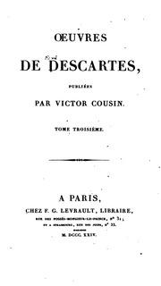 Vol 3: OEuvres de Descartes, publiées