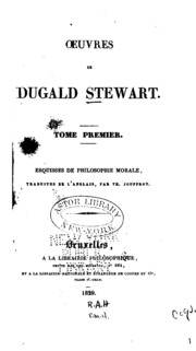 Vol 1: Oeuvres de Dugald Stewart