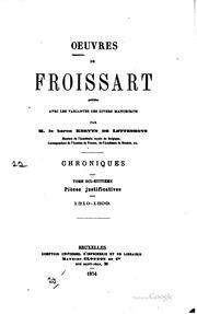 Vol 18: Oeuvres de Froissart: publiées avec les variantes des divers manuscrits