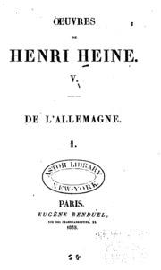 Vol 5: Oeuvres de Henri Heine