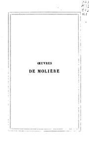 Vol 1: Oeuvres de Molière