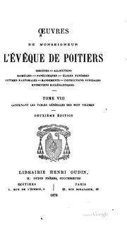 OEuvres de Monseigneur l-évêque de Poitiers