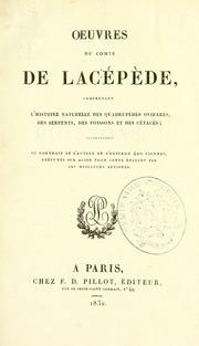Vol t.. 9: Oeuvres du comte de Lacépède : comprenant l-histoire naturelle des quadrupèdes ovipares, des serpents, des poissons et des cétacés; accompanées du portrait de l-auteur et d-environ 400 figures, exécutés pour c