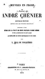 Oeuvres en prose de André Chénier