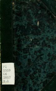 Vol 1: Oeuvres. Nouv. éd. rev. et annotée par Charles d-Héricault