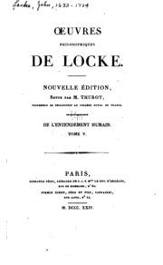 Vol 6: Oeuvres philosophiques de Locke