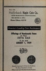 Offerings of Numismatic Items At Their 227th Sale