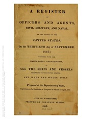 A Register of Officers and Agents ... (1816)