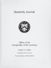 Office of the Comptroller of the Currency Quarterly Journal: Volume 16, No. 1