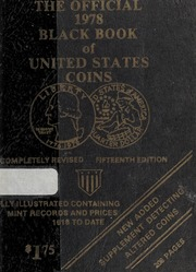 The Official 1978 Black Book of United States Coins, 15th Edition