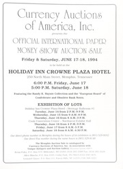 Official International Paper Money Show Auction Sale