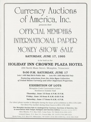 Official Memphis International Paper Money Show Sale