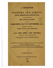 A Register of Officer and Agents ... (1817)