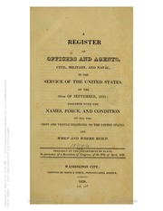 A Register of Officers and Agents ... (1819)