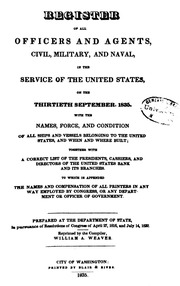 Register of all Officers and Agents ... (1835)