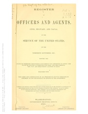 Register of Officers and Agent ...