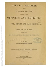 Official Register of the United States (1883)