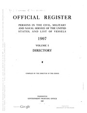 Official Register of the United States ...