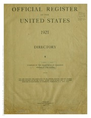 Official Register of the United States ...  (Directory)