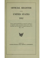Official Register of the United States (1952)