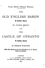 the old english baron The old english baron: a gothic story by: clara reeve price (rs 1372) in india- compare the old english baron: a gothic story by: clara reeve book prices, specifications, reviews and more.