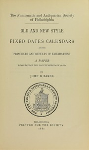 Old and New Style Fixed Dates Calendars