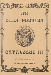 An Olla Podrida Catalogue III