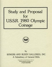 Study and Proposal for U.S.S.R. 1980 Olympic Coinage