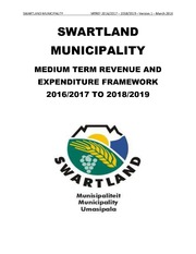 WC015 Swartland Draft Budget 2016-17
