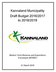 WC041 Kannaland Druft Budget 2016-17