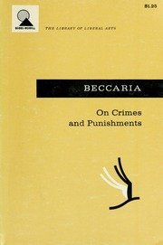 an essay on crimes and punishments beccaria cesare ese di  borrow on crimes and punishments