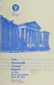 Annual Report of the Director of the Mint for the Fiscal Year Ended June 30, 1972