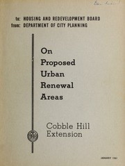 On proposed urban renewal a...