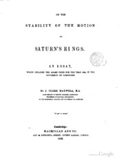 james clerk maxwell essay [this essay, which the the james clerk maxwell foundation site has kindly shared with readers of the victorian web, is based on a talk given at the conference scotland's mathematical heritage: napier to clerk maxwell held at royal society of edinburgh on 20/21 july 1995.