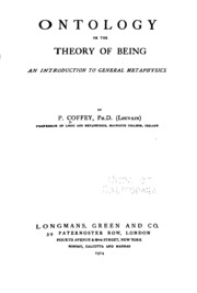 Realism and appearances an essay in ontology