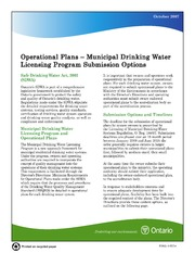 Municipal Drinking Water Licensing Program