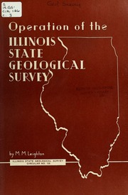 Papers Presented At The Quarter Centennial Celebration Of The - Illinois state geological survey