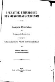 Operative Behandlung des Oesophaguscarcinom