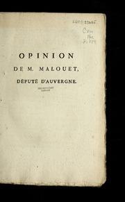 Opinion de M. Malouet, député d'Auvergne.