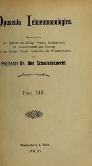 Vol Vol 13-18: Opuscula Ichneumonologica : Fascicule 1-45