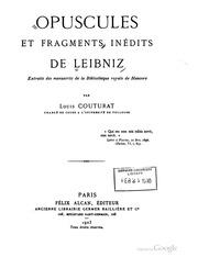 Opuscules et fragments inédits de Leibniz, extraits des manuscrits de la Bibliothèque royale de Hanovre
