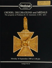 Orders, decorations and medals, from the important collection of Professor R.H. Graveson, C.B.E., Q.C., [including] a very rare General Officer's large gold medal for the capture of Java;  ... [09/18/1989]