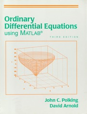 Ordinary differential equations using MATLAB : Polking, John