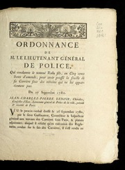 Ordonnance de M. le lieutenant général de police, qui condamne le nommé Radu fils, en cinq cents livres d'amende, pour avoir poussé la fouille de sa carrière sous des terreins qui ne lui appartiennent pas : du 27 septembre 1780