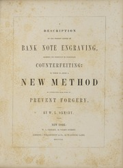 Ormsby's Bank Note Engraving
