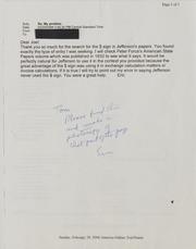 Joel J. Orosz Correspondence, 1988-1998