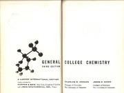General College Chemistry : Charles W  Keenan : Free