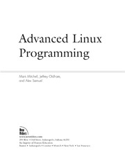 Advanced Linux Programming : Mark Mitchell : Free Download