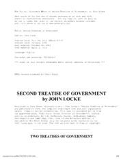 essay on civil government locke