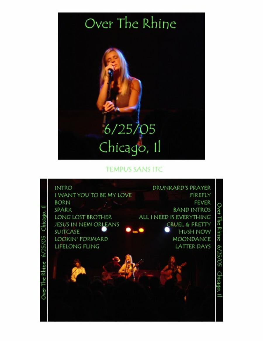 Over the Rhine Live at Schuba's Tavern on 2005-06-25 : Free